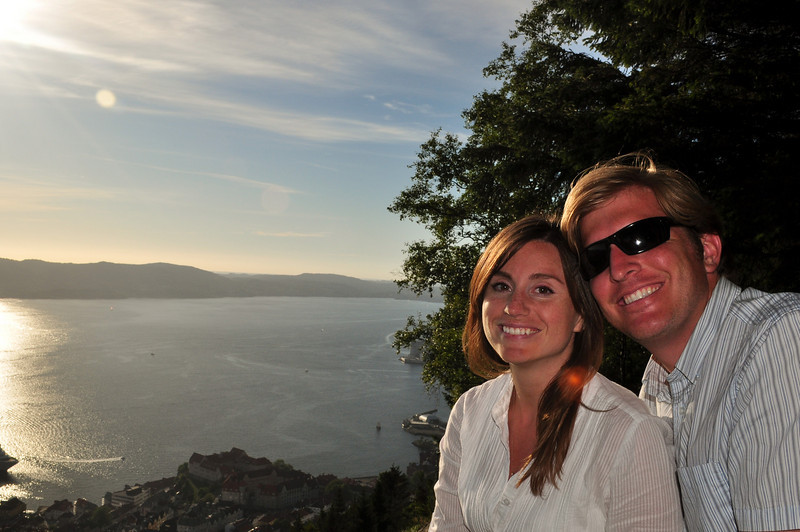 Looking over the Fjords in Bergen, Norway