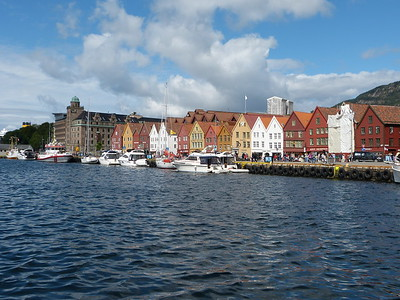 City of Bergen, Norway, August 08, 2012 The Bryggan (German Wharf) a Unesco World Heritage Site.