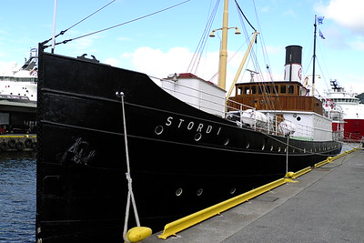 City of Bergen, Norway, August 08, 2012. Historic preserved steamship STORD I in Bergen. The ship operated on the Bergen to Stavanger passenger service.