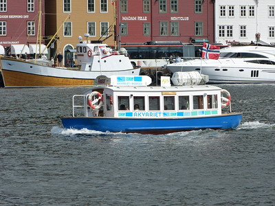City of Bergen, Norway, August 08, 2012 Harbour Ferry