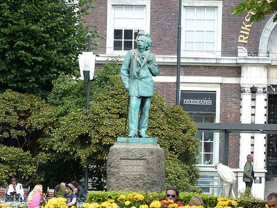 City of Bergen, Norway, August 08, 2012 Edvard Greig Statue.