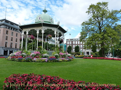 City of Bergen, Norway, August 08, 2012 Bandstand Christies Gate