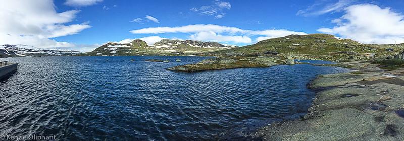 Finse glacier lake panorama