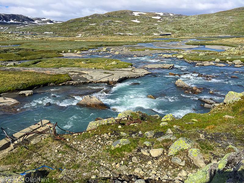 Finse glacier run off river