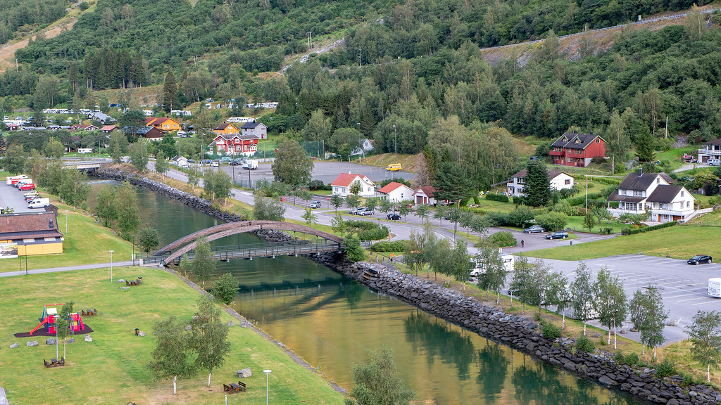 The village of Flam Norway