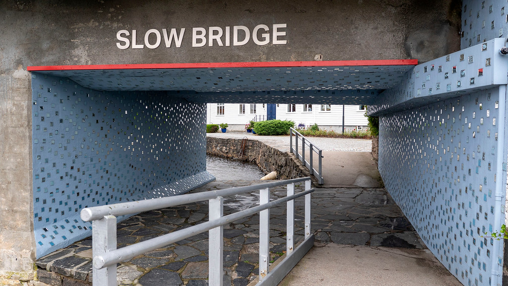 Slow Bridge art in Kristiansand Norway