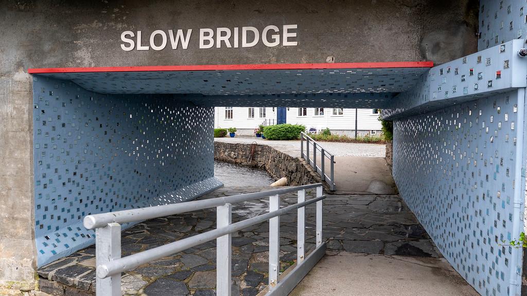 Slow Bridge art in Kristiansand Norway
