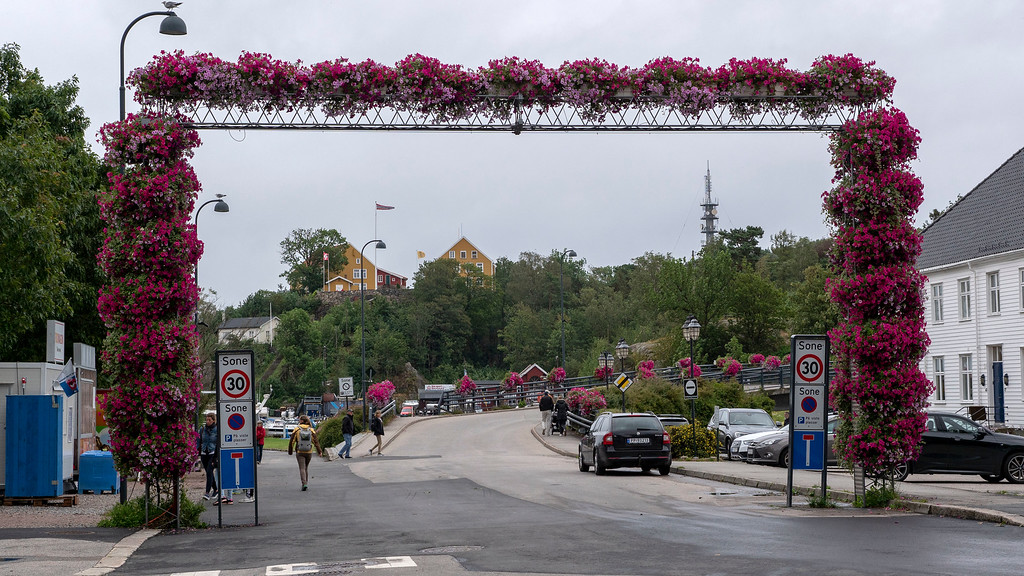 Flower archway in Kristiansand Norway