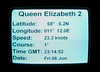 Queen Elizabeth 2 steers due north to Spitzbergen, Barents Sea, 7 June 2008    Ship's time was GMT + 2 hours.