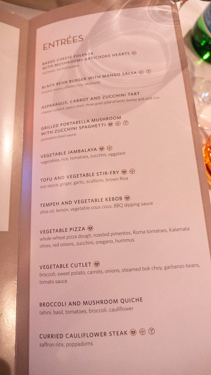 Holland America Vegan Menu
