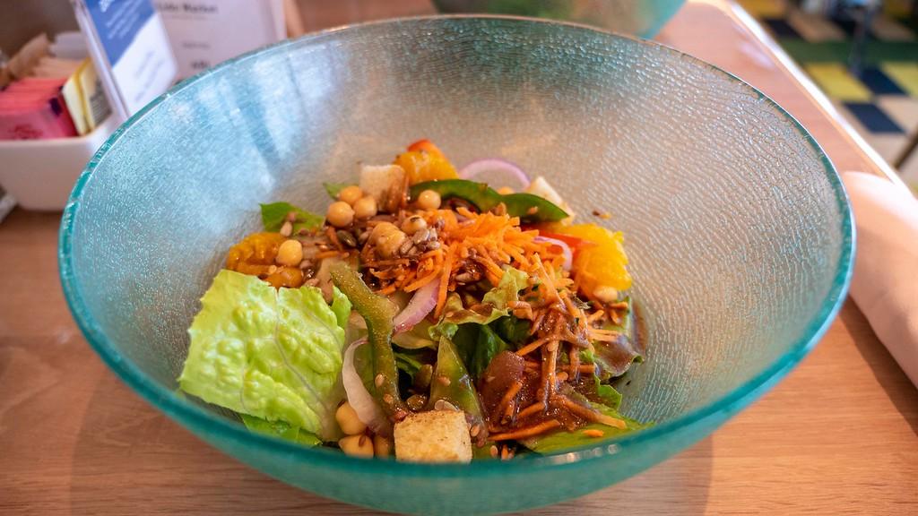 Salads at Lido Market on HAL Cruises