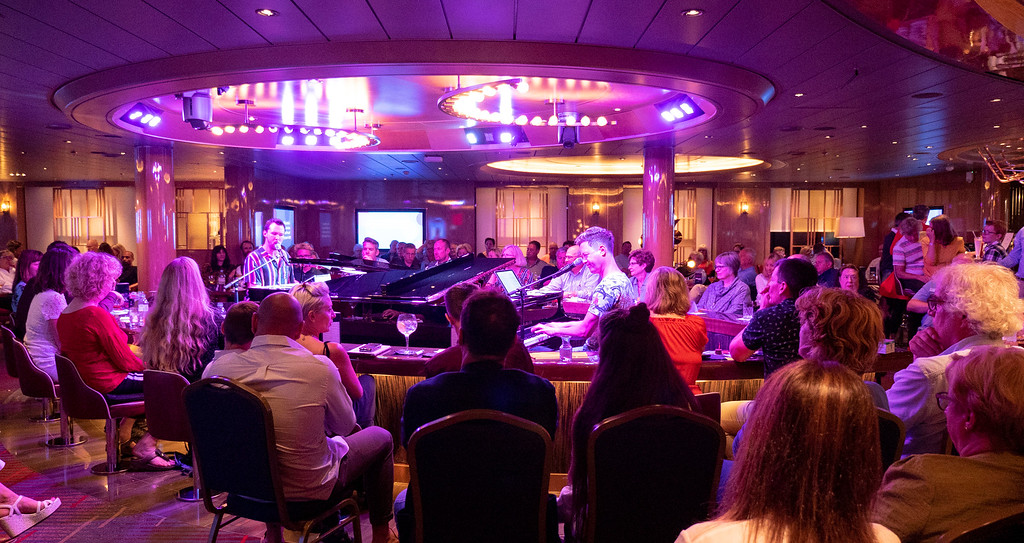 Holland America Norway Cruise: Nieuw Statendam Music Walk Dueling Pianos