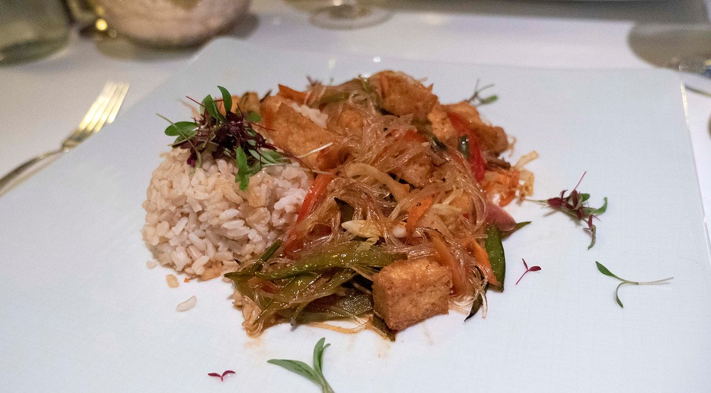 Holland America Vegan Menu - Tofu stir fry
