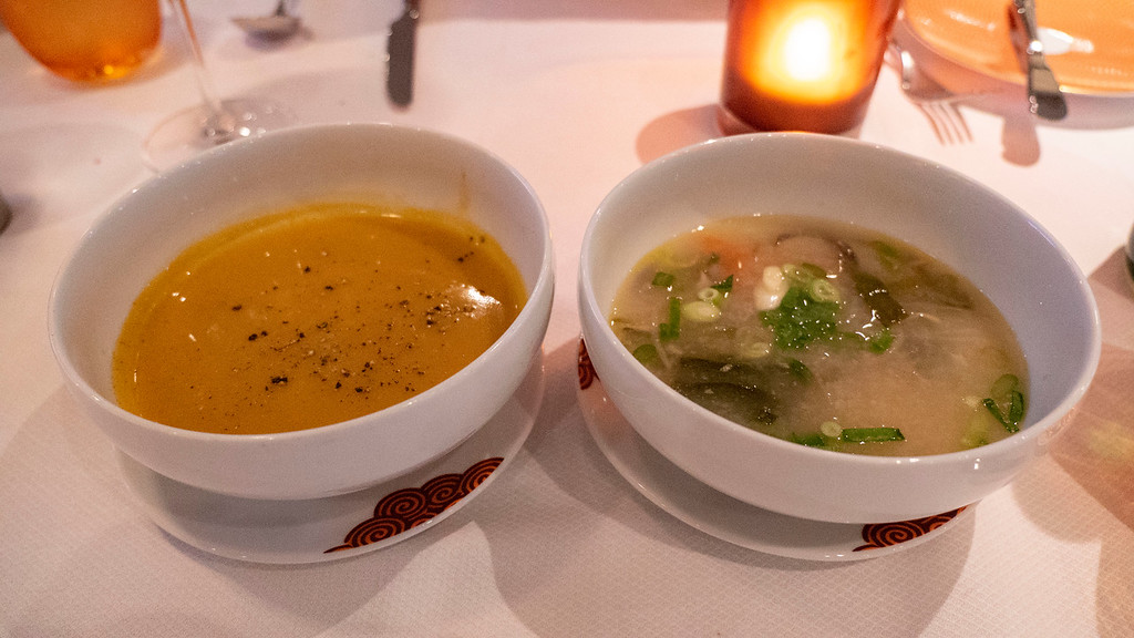 Soups on the vegan and vegetarian menu on Holland America Line cruises