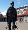 Coalminer's statue, Longyearbyen, Spitzbergen, 8 June 2008