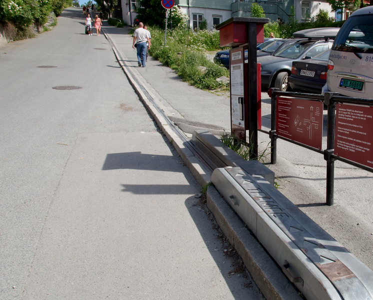 World's first bicycle lift, Trondheim, 5 June 2008 1