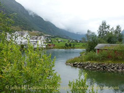 Olden is a village of 480 inhabitants located at the mouth of the Oldeelva river in the Oldedalen Valley along the Nordfjord. It is a popular cruise ship destination. These photographs were taken on August 07, 2012 when Fred. Olsen Lines' BALMORAL and Carnival Corporation's Ibero Cruise ship GRAND MISTRAL visited.