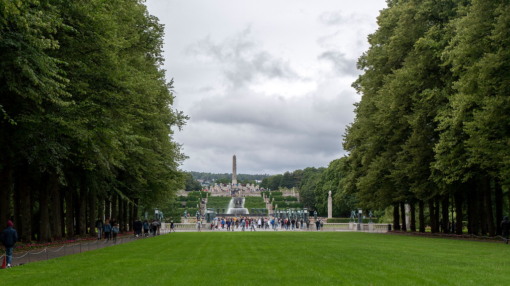 Entrance to Frogner Park in Oslo Norway - What to do in Oslo