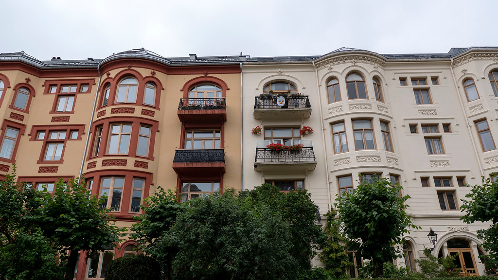 City streets and colorful houses in Oslo Norway - Things to do in Oslo