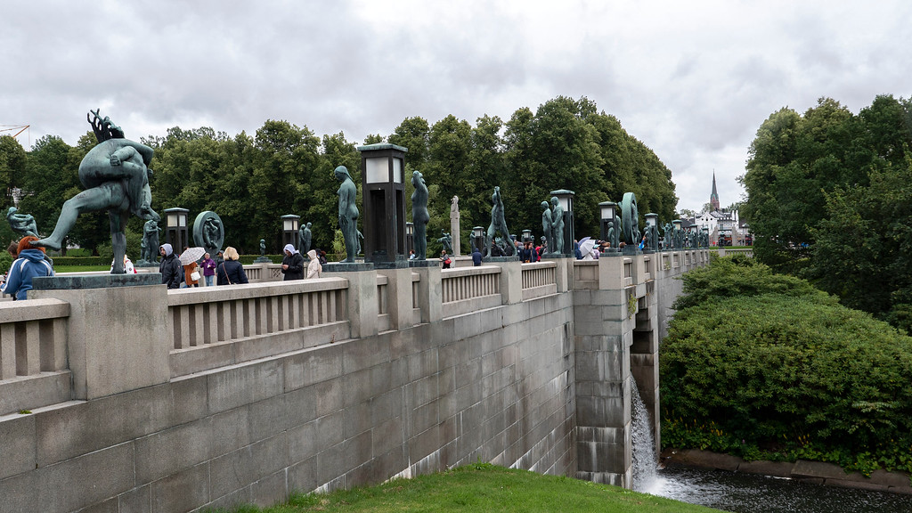 The Bridge at Vigeland Park in Oslo Norway