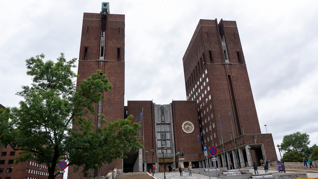 Oslo City Hall in a Brutalist architectural style - What to see in Oslo