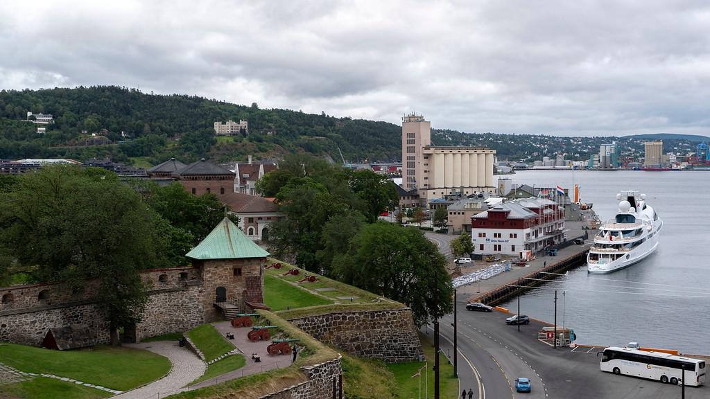Views of Oslo from the Nieuw Statendam cruise ship