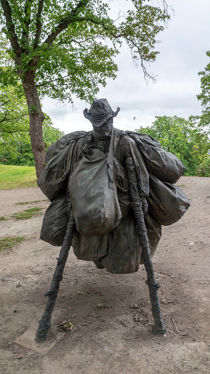 Statue at Akershus Fortress in Oslo