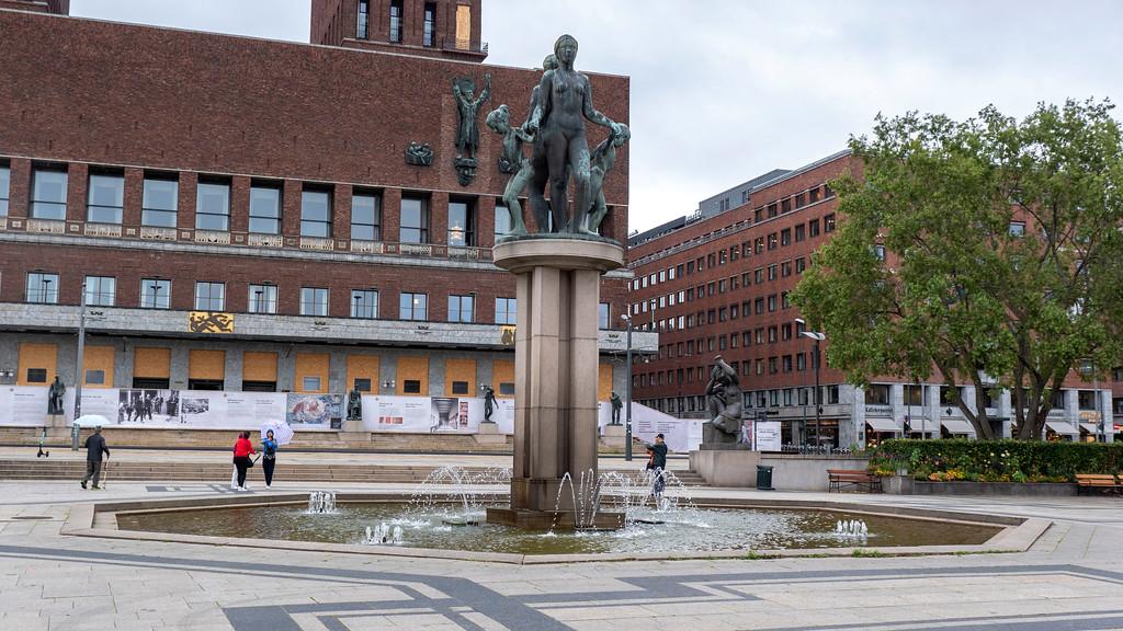 Rådhusplassen town square in Oslo Norway - Oslo sightseeing