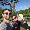 """Family photo with Vigeland's """"attacked by babies"""" sculpture"""