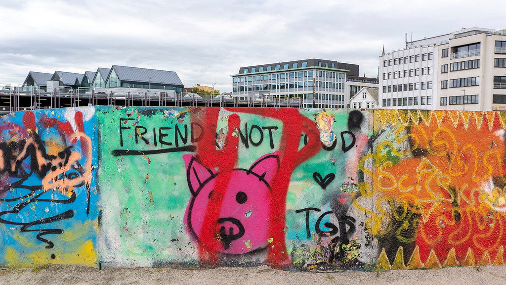 Friend not food - Graffiti in Stavanger Norway