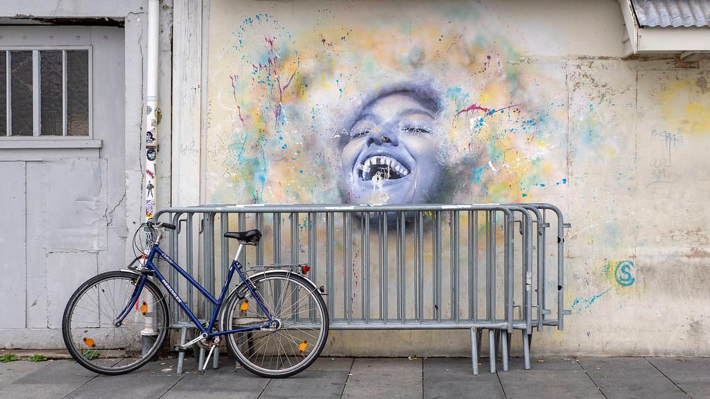 Street art in Stavanger by the cruise ship port