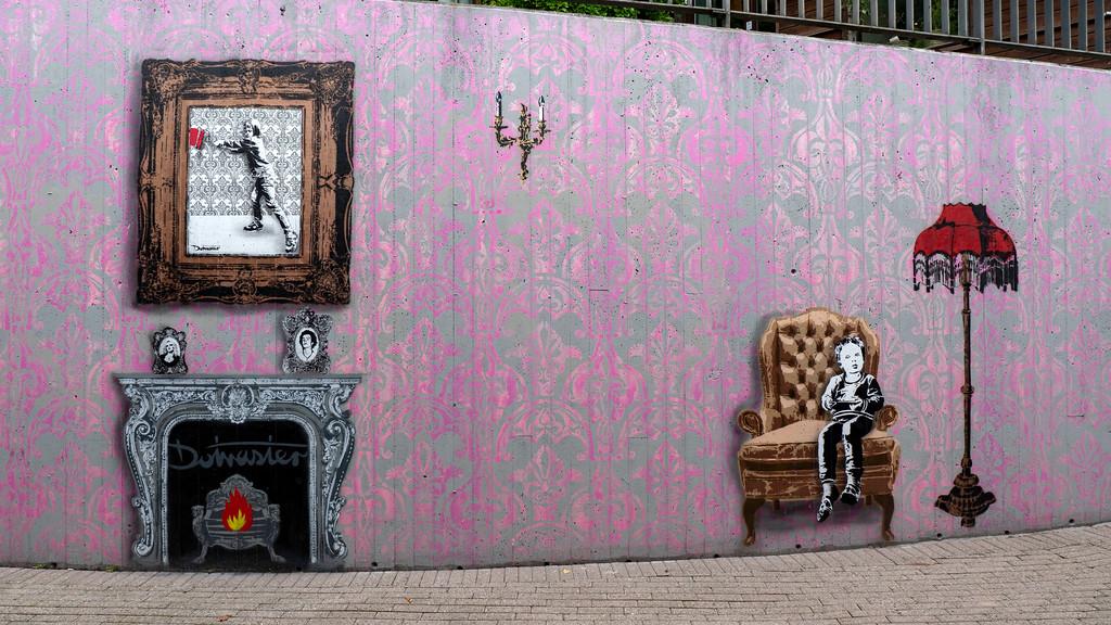Stencil art and street art Stavanger Norway