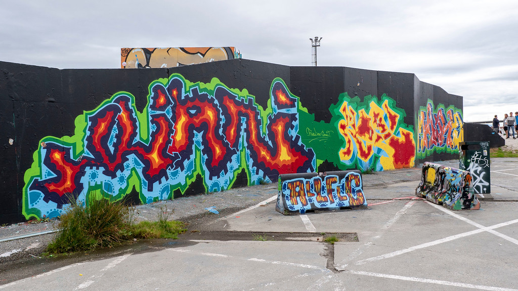 Geopark street art in Stavanger Norway
