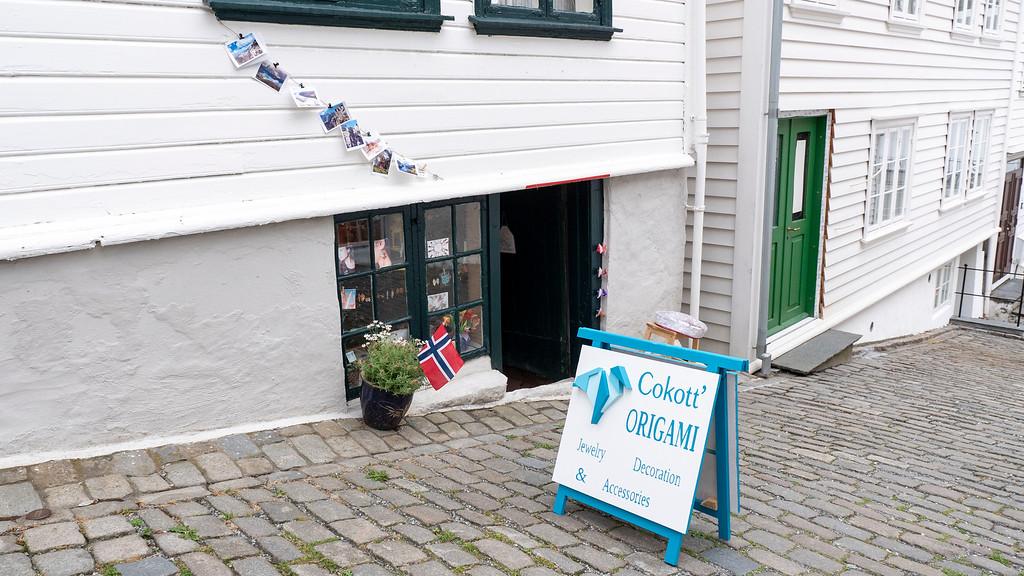 Cokott origami boutique shop in Old Stavanger Norway