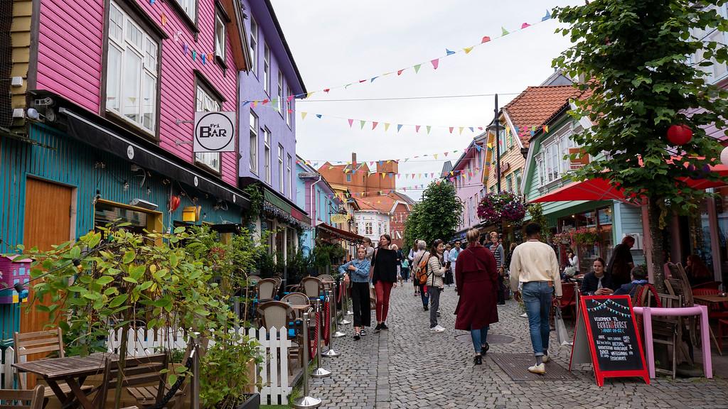 Øvre Holmegate or Fargegaten, the Color Street Stavanger Norway