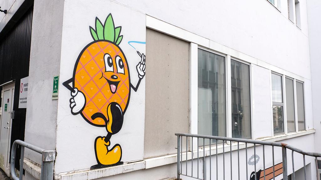 Pineapple street art Stavanger Norway