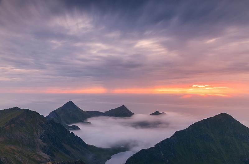 Norway Mountian Sunset