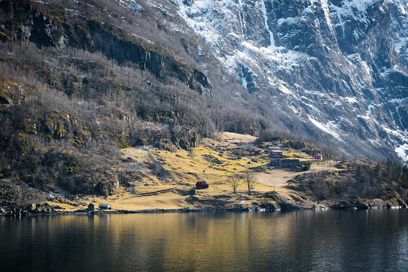 A small mountainside community near Flam, Norway, Scandinavia