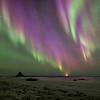 Bleik Beach Aurora Curtain