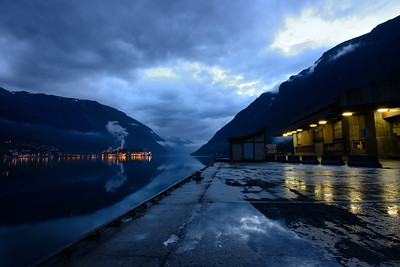 Odda on an early and wet morning