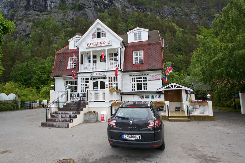 Fjellro Turisthotell Valldal.  I camped 4 nights in Norway and spent 2 nights in a hotel.