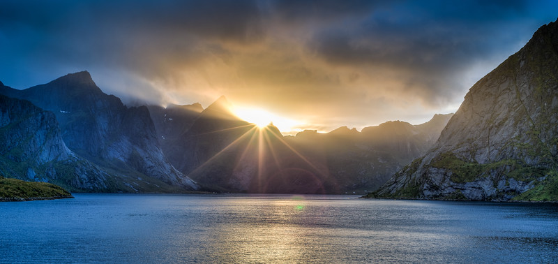 Sunset in the Lofoten Islands