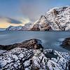 Lofoten Islands Snowy Coastline
