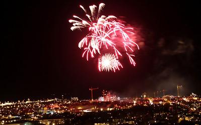 Fireworks from Rensåsparken, Bodø
