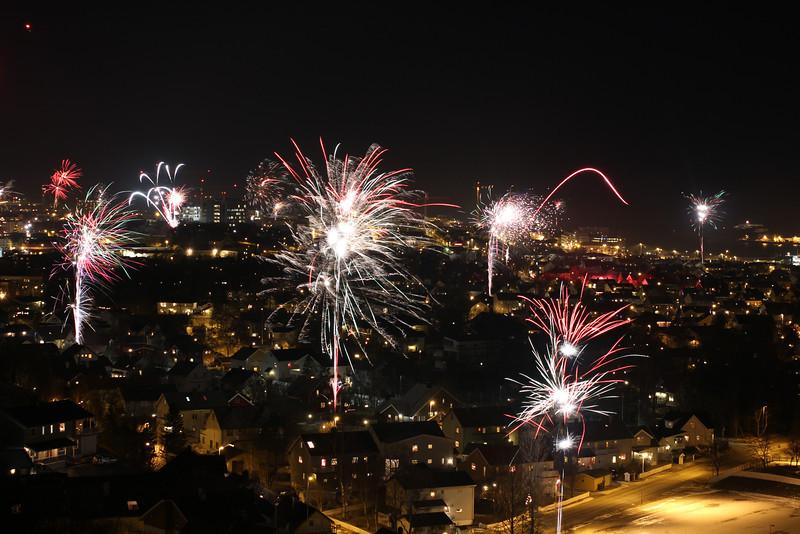 Fireworks over Bodø