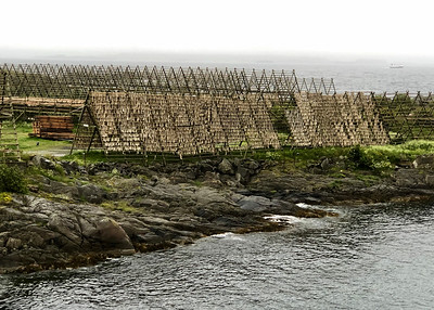 Hjell Cod Stockfish Drying Racks, Lofoton, Nordland, Norway