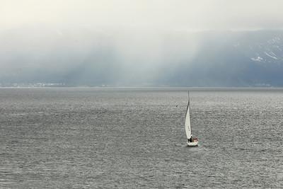Evening Sail, Near Risøyrenna, Norland, Norway