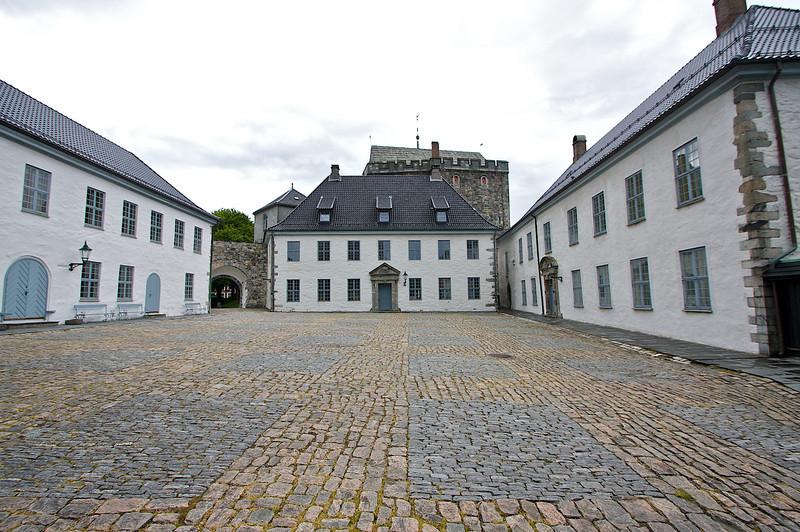 The palace courtyard. Bergenhus Festning Bergen.