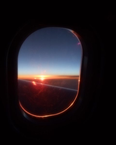 Sunset/Sunrise <br /> (Midnight flying to Norway 6/13/13)