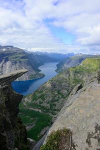 Trolltunga and Ringsdalvatnet